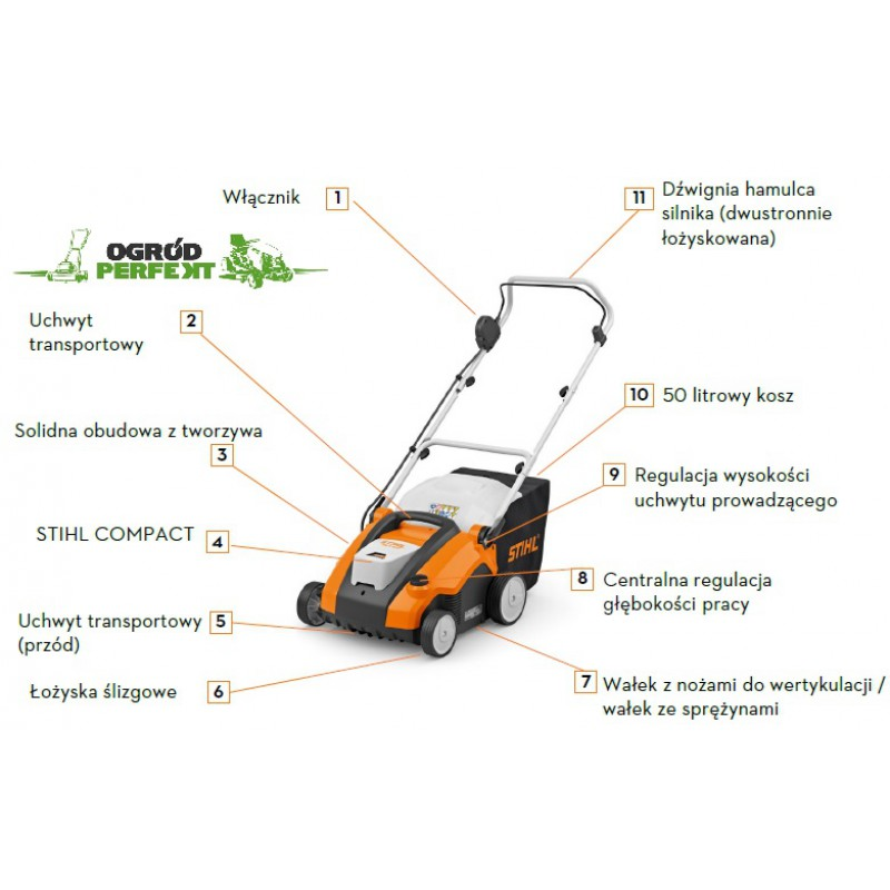 Wertykulator akumulatorowy STIHL RLA 240 + AK30 + AL 101 // Gratis Transport // Nowość 2020!!! // Autoryzowany Dealer